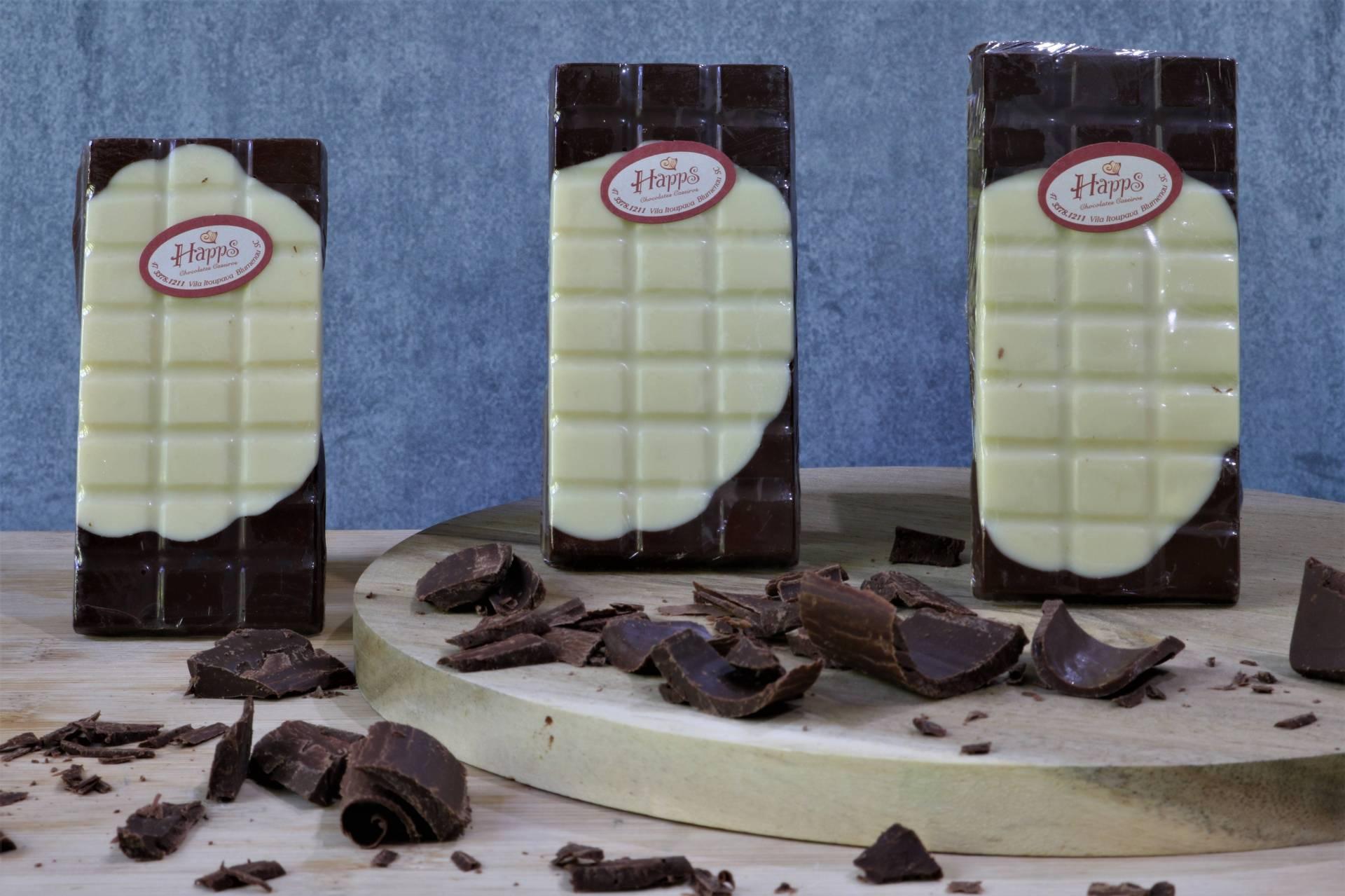 Barrinhas de Chocolate Mesclado em Trio